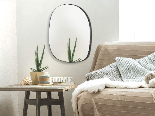 Asymmetrical Accent Wall Mounted Mirror for sale